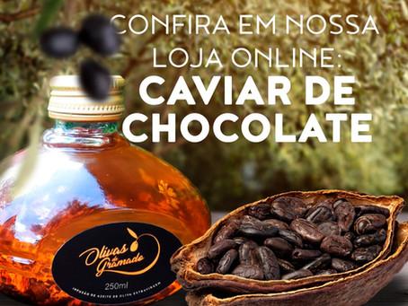 Olivas de Gramado expande linha própria de produtos aromatizados com azeite 'Caviar de Chocolate'