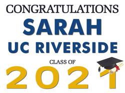 UC Riverside Yard Sign
