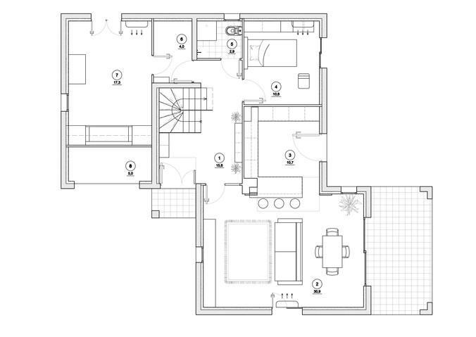 План расстановки мебели 1 этажа  М1_50.j