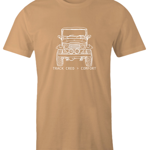 Track Cred Over Comfort Tee