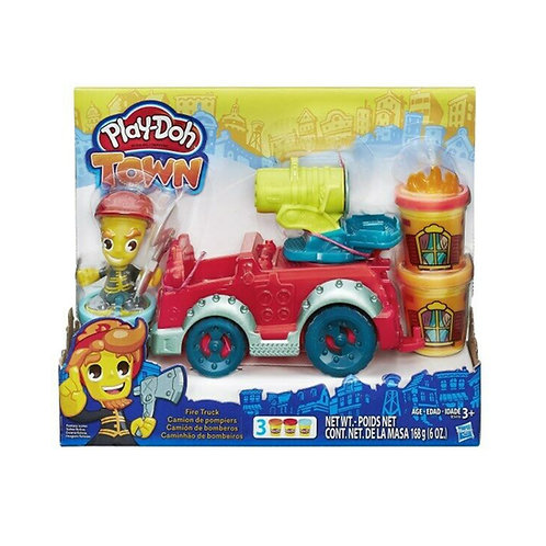 Play-Doh Town Fire Truck with 3 Cans of Play-Doh