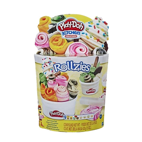 Play-Doh Kitchen Creations Rollzies Rolled Ice Cream Set with 4 Cans of Play-Doh