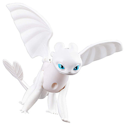 Dreamworks Dragons, Lightfury Dragon Figure with Moving Parts