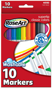 RoseArt SuperTip Classic Colours Washable Markers (10)