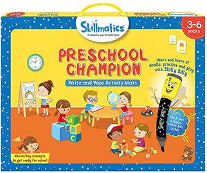 Skillmatics: Preschool Champion (Write & Wipe Activity Mats) (3-6 Years)