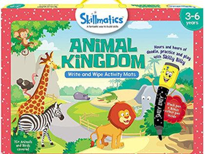 Skillmatics: Animal Kingdom (Write & Wipe Activity Mats) (3-6 Years)