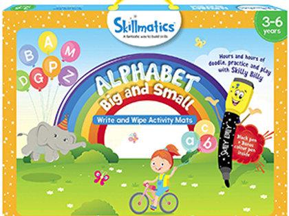 Skillmatics: Alphabet Big and Small (Write & Wipe Activity Mats) (3-6 Years)