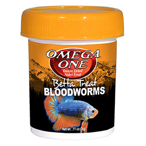 Omega One - Freeze Dried Betta Treat Bloodworms (11 oz)