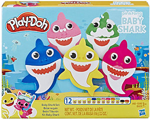Play-Doh Baby Shark Set with 12 Non-Toxic Cans
