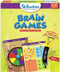 Skillmatics: Brain Games (Write & Wipe Activity Mats) (6-99 Years)