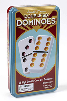 Double 6 Dominoes (28 coloured pieces) – Pressman Toys Family Classics