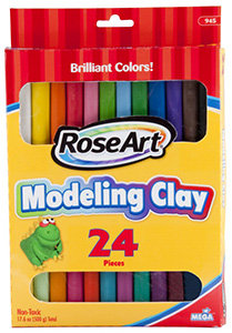 RoseArt Modeling Clay Assorted Colors (24 Pieces)