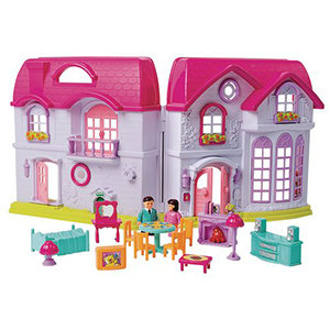 Princess Sapphire Deluxe Doll House (16 Pieces)