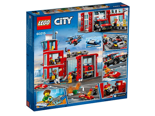 Lego City Fire Station Fire Rescue Tower Building Set with Emergency Vehicle