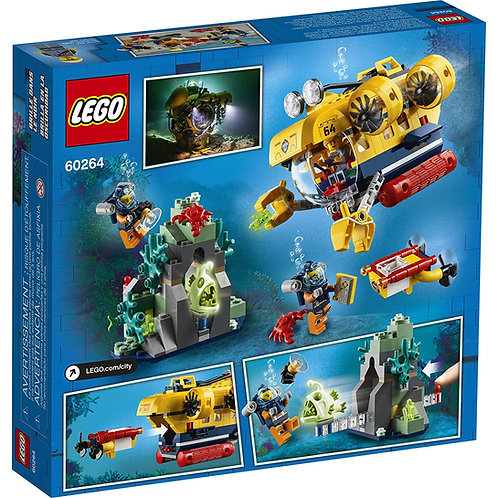LEGO City Ocean Exploration Submarine with Toy Submarine, Coral Reef Setting
