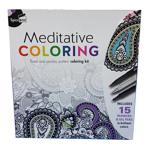 Spice Box Meditative Coloring