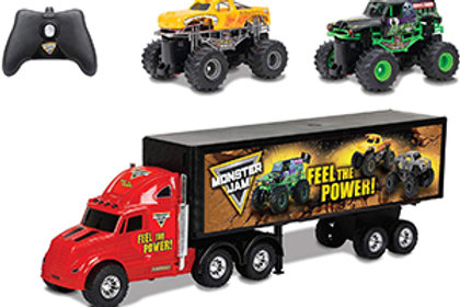 New Bright Monster Jam Hauler with Two Mini Monster Jam Trucks