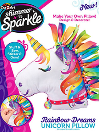 Cra-Z-Art Shimmer 'n Sparkle Make Your Own Pillow - Rainbow Dreams Unicorn