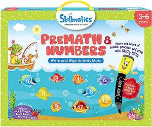 Skillmatics: PreMath and Numbers (Write & Wipe Activity Mats) (3-6 Years)