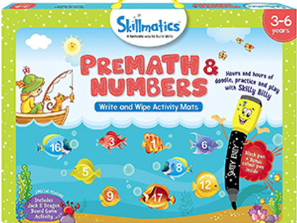Skillmatics: PreMath and Numbers (Write & Wipe Activity Mats) (3-6 Years)