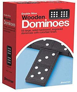 Double Nine Wooden Dominoes (55 Pieces) Pressman Toys