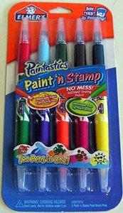 Paintastics Elmer's Paint 'n Stamp Paint Brush Pens