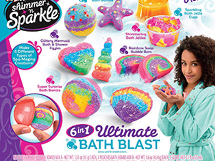 Cra-Z-Art Shimmer 'n Sparkle 6 in 1 Ultimate Bath Blast