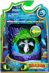 Dreamworks Dragons Hidden World Playset - Dragon Lair with Collectible Lightfury