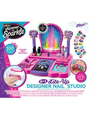 Crz-Z-Art Shimmer 'N Sparkle 8-In-1 Light Up Designer Nail Studio