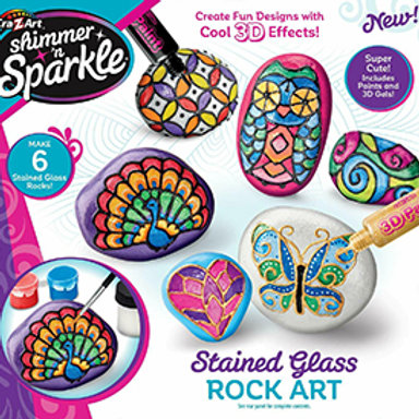 Cra-Z-Art Shimmer N Sparkle Stained Glass Rock Art