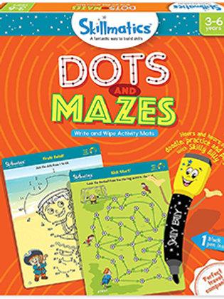 Skillmatics: Dots and Mazes (Write & Wipe Activity Mats) (3-6 Years)