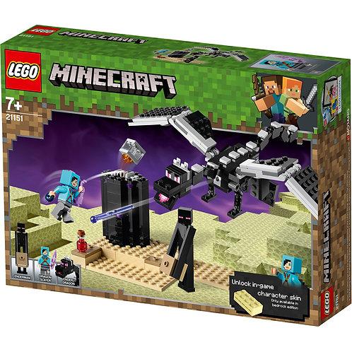 Lego Minecraft The End Battle Ender Dragon Building Kit