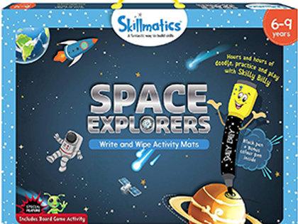 Skillmatics: Space Explorers (Write & Wipe Activity Mats) (6-9 Years)