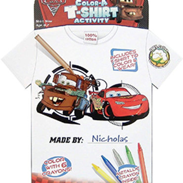 Disney Cars 2 - Color A T-shirt Activity