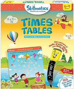 Skillmatics: Times Tables (Write & Wipe Activity Mats) (6-9 Years)