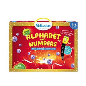 Skillmatics: Alphabet and Numbers (Write & Wipe Activity Mats) (3-6 Years)