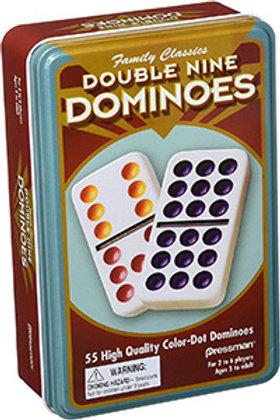 Double 9 Dominoes (55 coloured pieces) – Pressman Toys Family Classics
