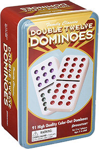 Double 12 Dominoes (91 coloured pieces) – Pressman Toys Family Classics