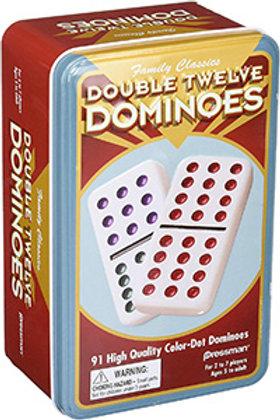 Double 12 Dominoes (91 coloured pieces) – Pressman Toys Family Classics