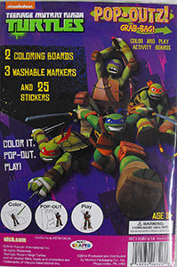 Teenage Mutant Ninja Turtles Pop-Outz Grab Bag (Colour and Play Activity Boards)
