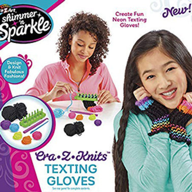 Shimmer & Sparkle Cra-Z-Knits Texting Gloves