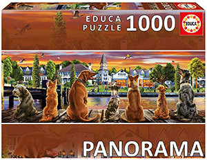 Educa 1000 Piece Puzzle - Dogs on The Pier Panorama