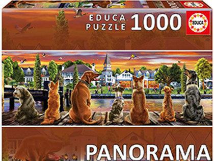 Educa 1000 Piece Puzzle - Dogs on The Pier Panorama