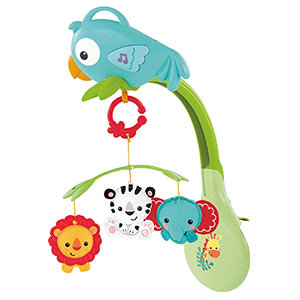 Fisher-Price Rainforest Friends 3-in-1 Musical Mobile
