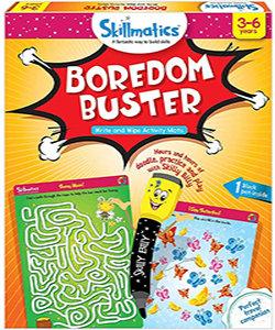 Skillmatics: Boredom Buster (Write & Wipe Activity Mats) (3-6 Years)