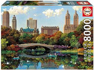 Educa 8000 Piece Puzzle - Central Park Bow Bridge (Alexander Chen Puzzle)