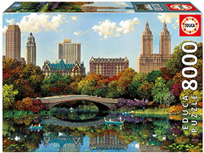 Educa 8000 Piece Puzzle - Central Park Bow Bridge (Alexander Chen Puzzle)