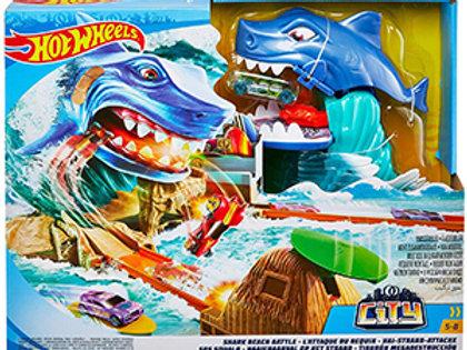 Hot Wheels Shark Beach Battle Play Set