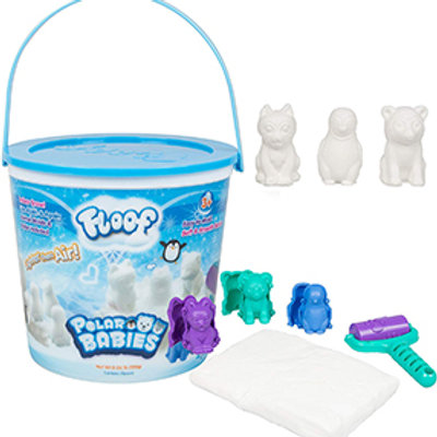 Floof Polar Babies Modeling Clay - Reuseable Indoor Snow