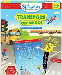 Skillmatics: Transport Off We Go (Write & Wipe Activity Mats) (3-6 Years)